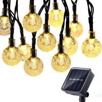 30 LED Outdoor Solar Fairy String Lights 8 Lighting Modes - Fence Garden Lawn