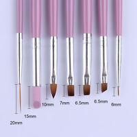7Pcs/Lot Acrylic Nail Art Pen Tips Builder UV Gel Painting Brush  Set