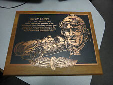 Indianapolis 500 Riley Brett Reward Plaque IMS Museum Hall Of Fame