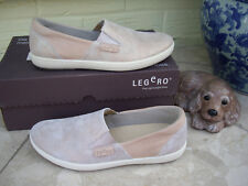 LEGERO POWDER PINK GLITTERY LEATHER SHOES BLUSH NUDE SHIMMER FLATS PUMPS ~ 3