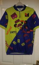 Mens Cycling Jersey Shirt - C&A - Rodeo - Dark Blue Lime Green Magenta - 52/54 L