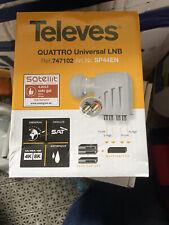 TELEVES Quattro Universal 40mm LNB Grey