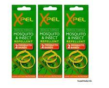 Adult Xpel Tropical Formula Mosquito & Insect Repellent Bands (DEET FREE) X 3