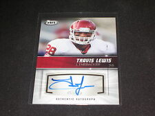 Travis Lewis 2012 Sage Rookie Certified Authentic Hand Signed Autographed Card