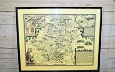 Reproduction Framed & Laminated Antique John Speed 1610 Hertfordshire Map