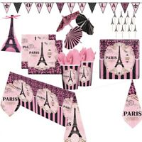 Paris Party Supplies Tableware, Decorations, Banners, Balloons