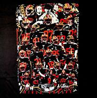 49ers 2019 Team Graphic Photo 3-D Art Painted Tee Shirt Black Size Men's Large