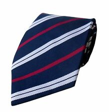 FREE POCKET SQUARE Royal Corps Of Transport Regiment Woven Striped Tie  RCT