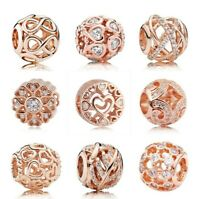 Rose Gold Openwork Charm Galaxy Infinite Charm Shine Open Your Heart Beads