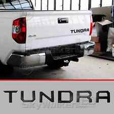 For TOYOTA TUNDRA 2014-2018 BLACK Tailgate Letters Insert 3D Plastic Sticker