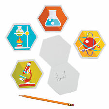 Science Party Laboratory Notepads - Stationery - 12 Pieces