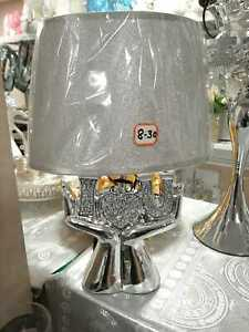 45Cm Heart In Hands Ceramic Crushed Diamond Sparkling Bling Table Lamp