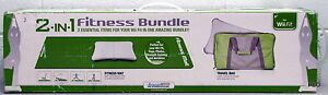 Wii Fitness 2 in 1 Bundle Mat & Travel Bag Yoga Pilates Strength Training 2in1