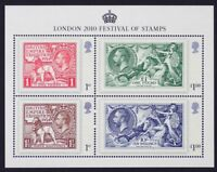 GR BRITAIN 2010 MS3072 London 2010, Festival of Stamps, Mini-Sheet, S/S Mint NH
