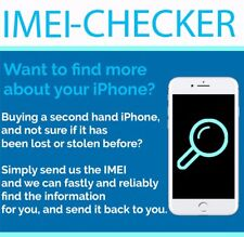 IMEI CHECK FOR IPHONE 3G 3GS 4 4S 5 5S 5C 6 6+ 7 7+