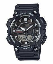 AEQ-110W-1A Black Casio Men's Watches Standard 10-Year Battery AE-Q110W
