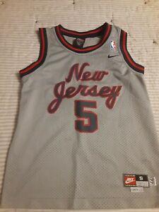 """Jason Kidd Swingman Jersey Youth Small +2"""" Length Nike New Jersey Nets NBA"""