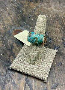 Barse Antheia Ring- Turquoise & Bronze- 7.75- NWT