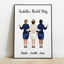 Personalised Hen Party Night Wall/ Word Art Picture Bride Tribe Keepsake Gift