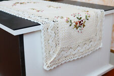 Embroidery Placemats Dining Table Coasters Large Lace Cotton Mats Kitchen Decors