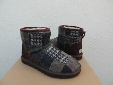 UGG MENS CLASSIC MINI PATCHWORK TWEED SHEEPWOOL BOOTS, US 7/ EUR 39.5 ~NEW