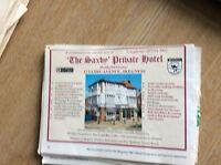 q1-r ephemera 1987 advert skegness hotel the saxby coley