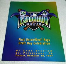 "Tampa Bay Devil Rays Arizona Diamondbacks Expansion Draft 11"" x 8.5"" Folder 1997"