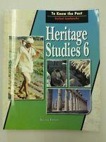 BJU Press 6th Grade Heritage Studies 2nd Edition Student Textbook Social Studies