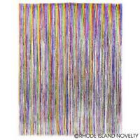 """Rainbow Foil Fringe Curtain - 36"""" x 96"""""""