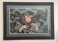 "AUDREY KAWASAKI DEEP WATERS PRINT 30""X20"" FRAMED, NUMBERED & SIGNED SOLD OUT"