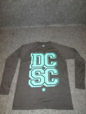 Magliette da uomo neri manica lunghi marca DC