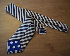 PAUL SMITH MARRON CHOCOLAT Cravate à rayure principal 100% soie 8cm lame