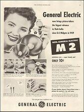 1954 vintage AD GE M 2 Camera Flash Bulb General Electric  071316