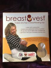 Breastfeeding Vest - Confident Feeding In Your Best Tops -  White XS - Size 8-10