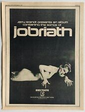 JOBRIATH 1973 vintage POSTER ADVERT FIRST ALBUM Elektra Records