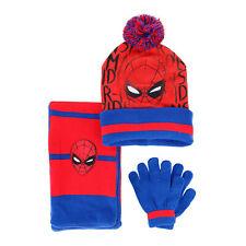 New Textiel Trade Kids' 3-6 Spiderman Hat Scarf and Glove 3-Piece Set