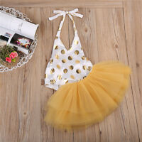 Newborn Baby Girls Romper Dress Skirt Tulle Tutu Dresses Outfits Clothes 0-24M