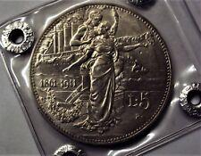 5 LIRE CINQUANTENARIO VITTORIO EMANUELE III RE DI ITALIA 1911 FDC PERIZIATA