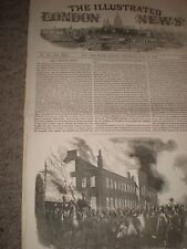 Canadá disturbios quema de las casas de montaje en Montreal 1849 impresión ref AZ