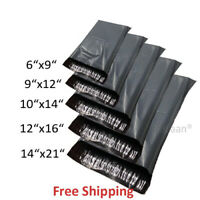 50 MIXED SIZES Grey Postage/Poly/Postal Mailing Bags/Sacks/Envelopes Self Seal