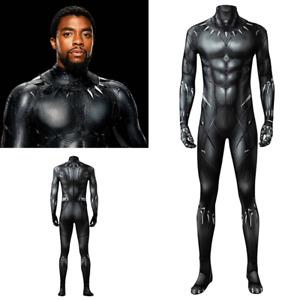 2018 Black Panther T'Challa Wakanda King Jumpsuit Cosplay Halloween Costume