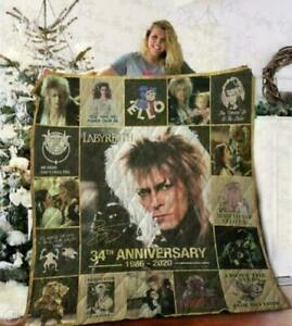 Labyrinth 34th Anniversary 1986-2020 Quilt Blanket, Fleece Blanket Print in US
