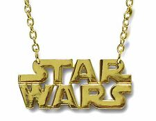 Star Wars Dog tag Necklace Pendant Gold Metal Usa American Logo Western Texas