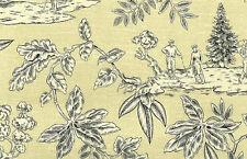 Yellow Golf Toile Wallpaper Black White Vinyl Rich-Wall 5551 Single Roll