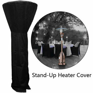 Large Outdoor Garden Patio Gas Heater Cover Protector Polyester Waterproof Black
