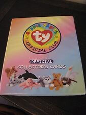 Ty Beanie Baby Collector Card Binder with Trading Cards