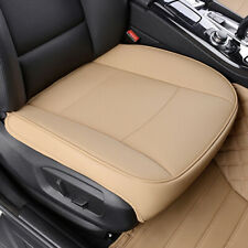 Beige Deluxe PU Leather Car Front Seat Cover Protector Cushion Chair Accessories