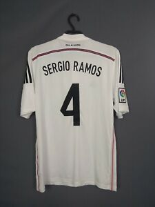 Sergio Ramos Real Madrid Jersey 2014 2015 Home MEDIUM Shirt Adidas F50637 ig93