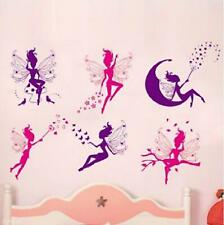 DIY Sweet 6 Fairy PVC Wall Stickers Removable Vinyl Art Decal Home Decor Paper
