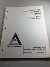 Allis Chalmers Model 3500 Mark Ii Engines Operating And Maintenance Manual